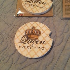 4/$20! Queen of Everything Car Coasters
